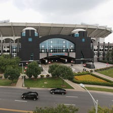 CHARLOTTE, NC - JULY 10:  The Bank of America Stadium, home for the Carolina Panthers NFL team, sits on the edge of Uptown on July 10, 2012 in Charlotte, North Carolina.