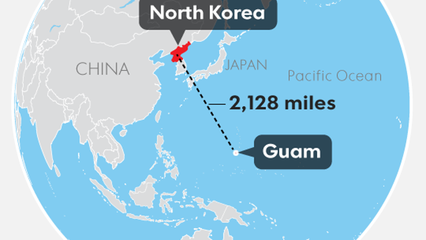 Guam Under The Gun From North Korea What We Know Now - Guam map