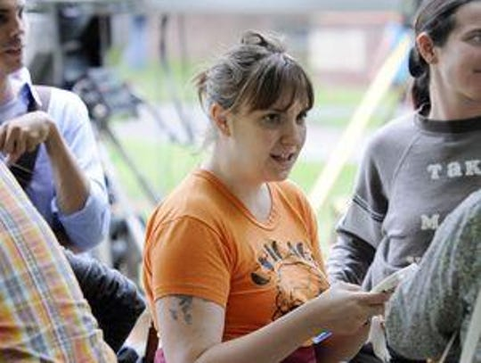 Lena Dunham, center, director and star of the HBO television