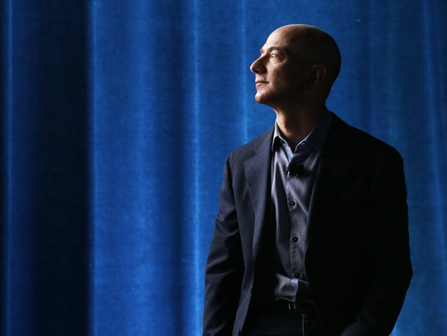 Amazon CEO Jeff Bezos in 2014. A job listing from Amazon suggests the company is planning to start producing live video shows.