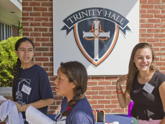 Students attend Trinity Hall, an all-girls Catholic