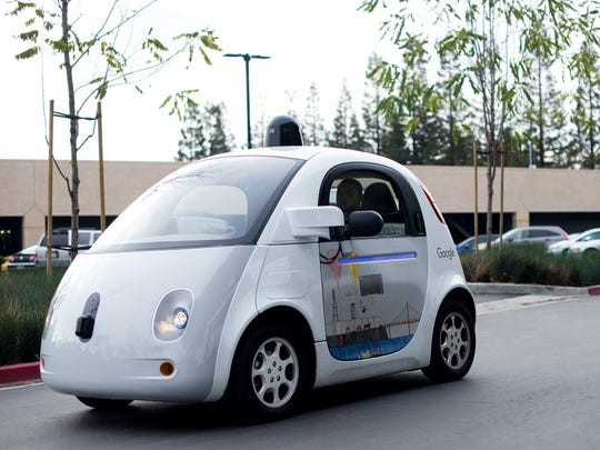 Google's self driving car. A Lexus version of the company's