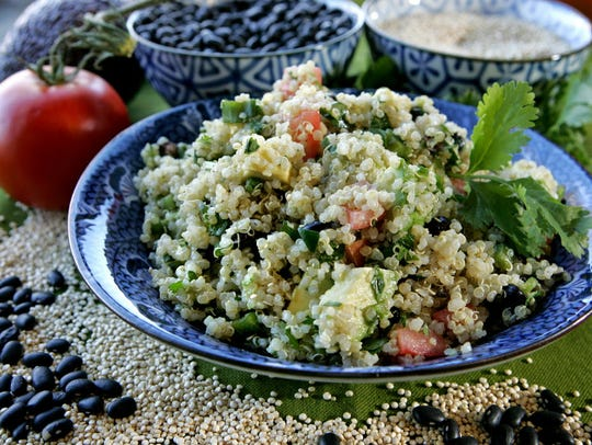 This Mexican Quinoa Salad is from Beans & Barley Market
