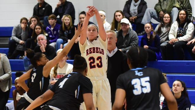 Saddle River Day's Michelle Sidor shoots duriing the Non-Public B North championship game against Immaculate Conception.