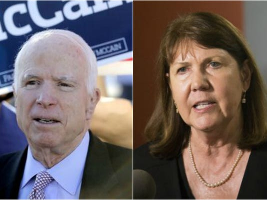 Senator John McCain and Ann Kirkpatrick
