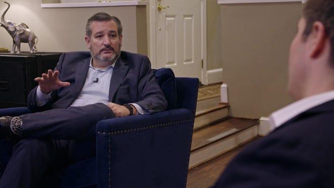 U.S. Sen. Ted Cruz, R-Texas, speaks with political reporter Jonathan Swan of Axios following the second presidential debate between President Donald Trump and Democratic vice presidential candidate Joe Biden.