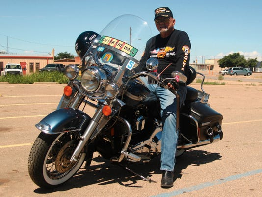 Cloudcroft resident Bill Poague participated in the 27th annual Run for the Wall in May. RFTW is a 10-day motorcycle ride by veterans and their supporters from Ontario, California, to Washington, D.C. to draw attention to the still missing POWs and MIAs.