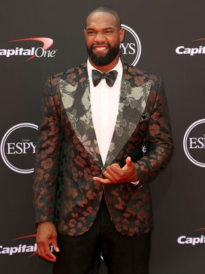Green Bay Packers tight end Marcedes Lewis arrives at the ESPY Awards in Los Angeles in 2018.