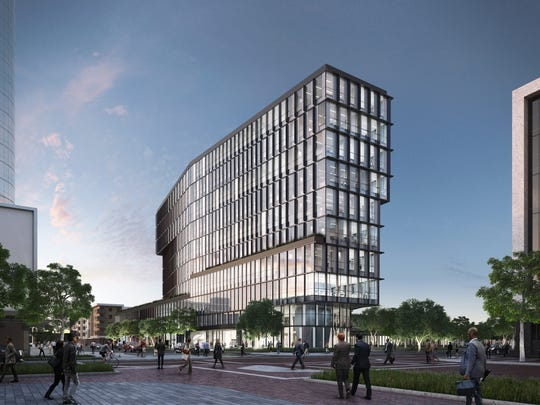 Cummins Inc. is building a 10-story office tower on part of the site where Market Square Arena once stood in Downtown Indianapolis.