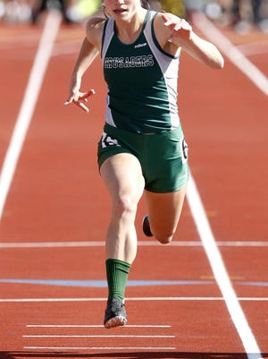 Central Catholic's Katie Mokros won Division III state titles in the 100 and 200 meters in 2013.