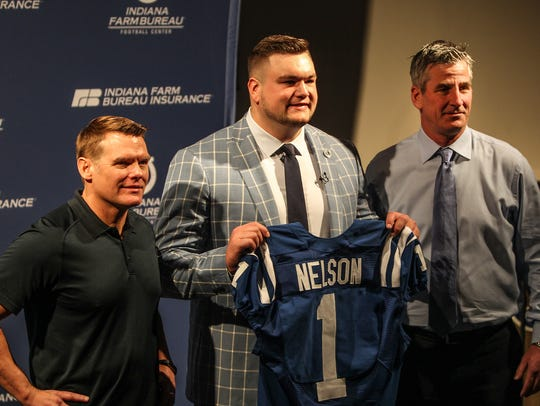 Indianapolis Colts first round draft pick Quenton Nelson