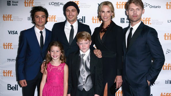 """(L-R) Actors Jacob Loeb, Stella Allen, director/actor James Franco, actors Brady Permenter, Janet Jones and Scott Haze attend the """"The Sound And The Fury"""" Premiere during the 2014 Toronto International Film Festival at Ryerson Theatre on September 6, 2014 in Toronto, Canada. (September 6, 2014 - Source: Leonard Adam/Getty Images North America)"""