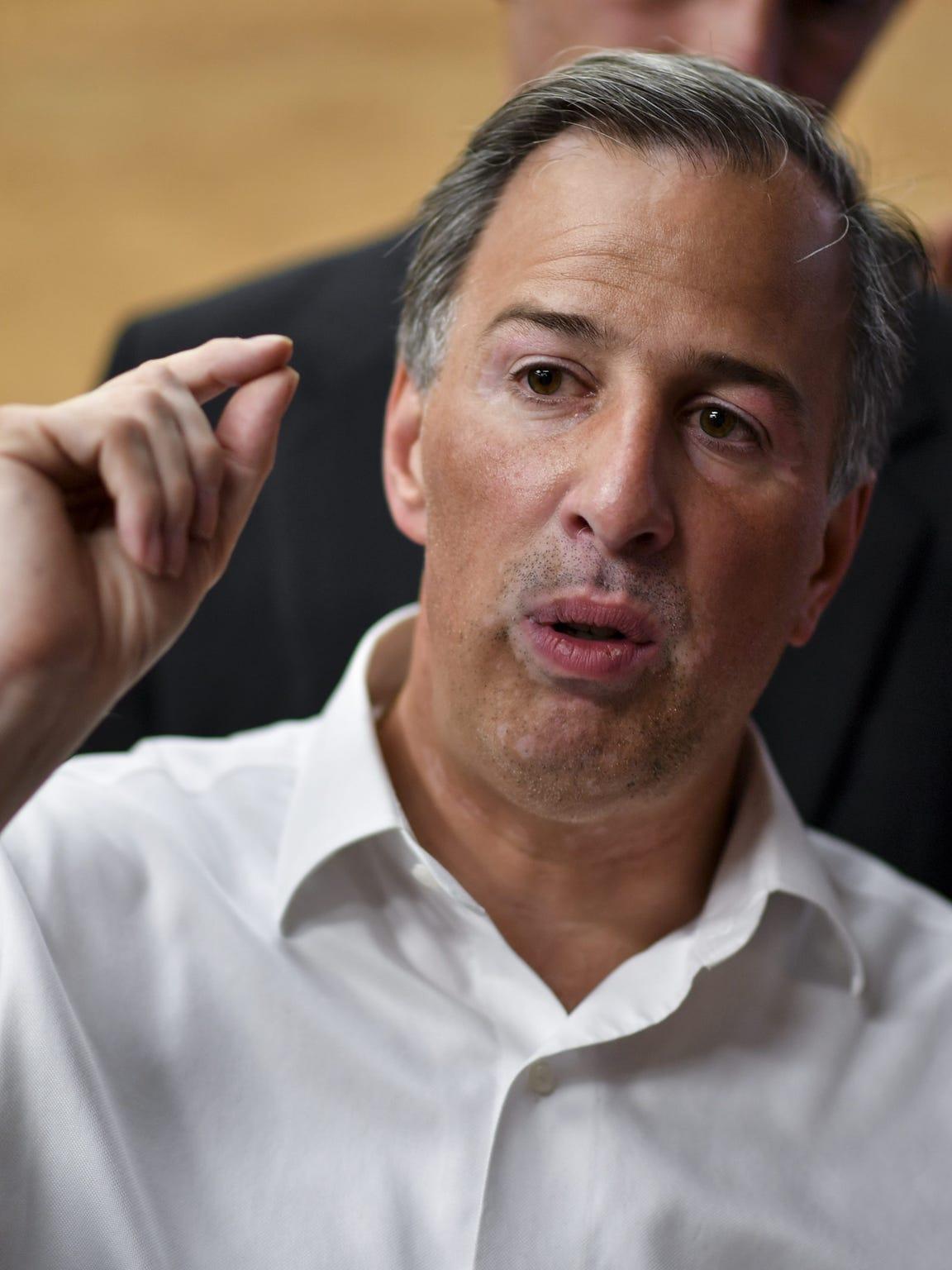 José Antonio Meade, candidato por el PRI-PVEM-PANAL a la presidencia de México.