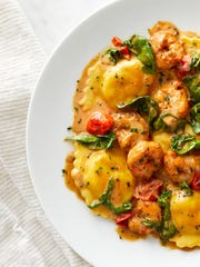 Lobster & Shrimp Ravioli at Brio Tuscan Grille.
