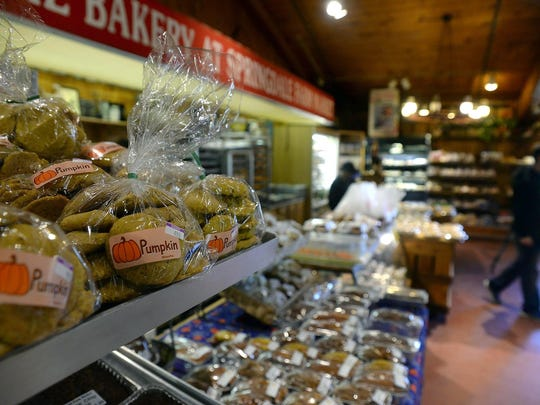 Pumpkin cookies from the bakery at Springdale Farm. The Cherry Hill business sells lots of Halloween treats.