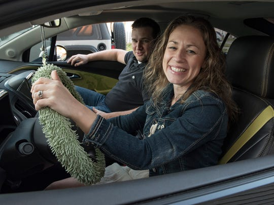 Elissa Potter and husband Phil Potter love Daisy, the 5-year-old Chevrolet Volt.