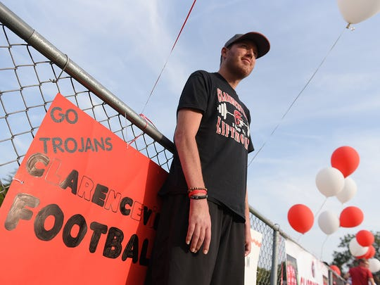 Retired NFL player Tim Shaw is battling ALS. He returned home as Clarenceville High School renamed the football field to honor him.