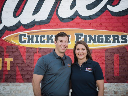 Justin and Jennifer Jones will open Raising Cane's