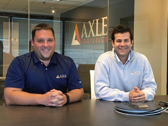 Jon Clay, left, and Drew Johnson are the founders of Knoxville-based Axle Logistics, a shipping broker for a variety of industries across Tennessee and the Midwest. SUBMITTED