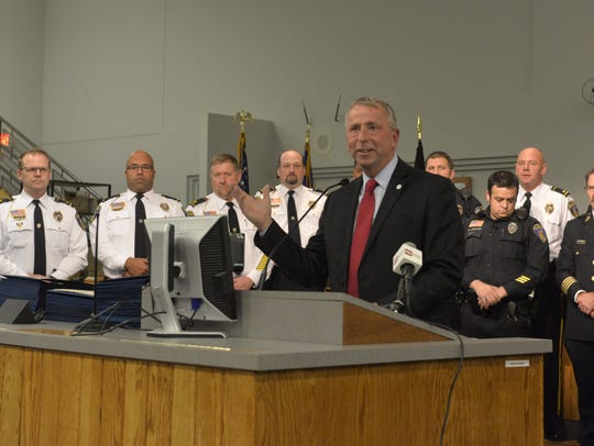 Mayor Dave Kleis honored local first responders with