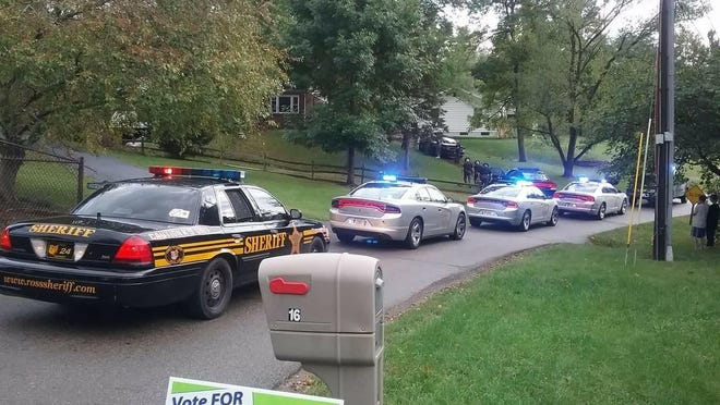Officials responded to a call of a burglary in progress Sunday afternoon on Stanhope Drive. Two people are facing felony burglary charges in connection with the incident.