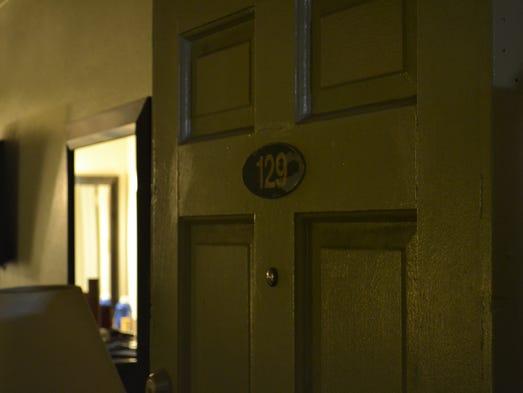 John Russel Houser's motel room.