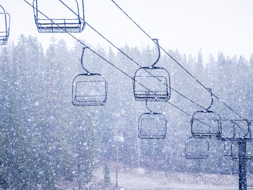 First season snowfall dumps up to two inches in Tahoe.