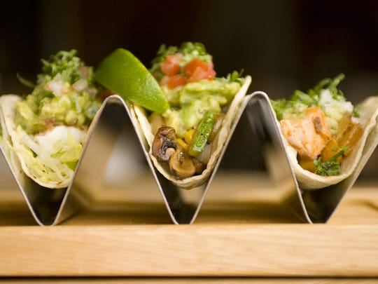A trio of tacos from the old Gallo Blanco Cafe and