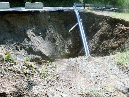 Water that passes under Van Blaricum about a half-mile