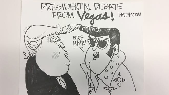 Quick sketches drawn live during Wednesday's presidential debate.