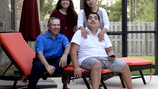 The Penaloza family is this year's chair family for Setps for Autism, a Sept. 19 fundraiser in support of Autism Pensacola. Family members are Sergio, Sarah, Mayra, 17, and Isaac, 15. Sergio said they raised $50,000 last year and have set a new goal for this year of $85,000.