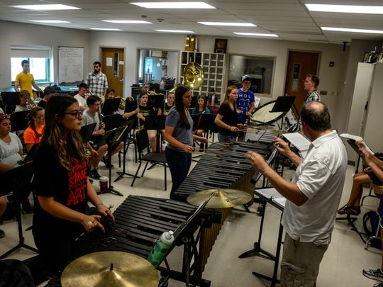 The veterans and rookies of the Vestalâ??s marching band comes together for the first time to start rehearsals for their upcoming season during the two-week long band camp.