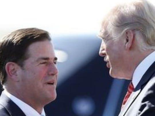 Gov. Doug Ducey and President Donald Trump