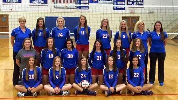 The West Henderson volleyball team.