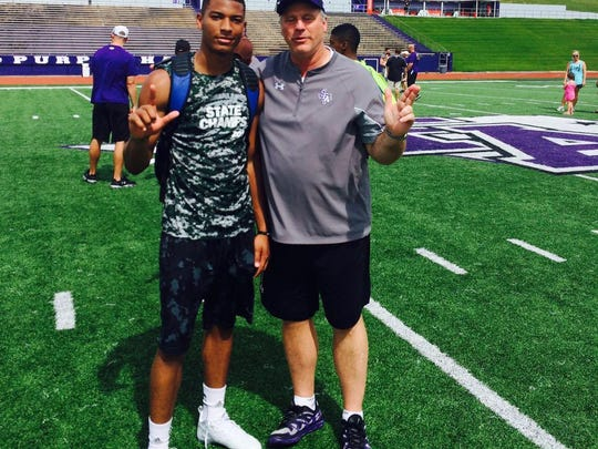 Malik George on a visit to Stephen F. Austin this summer.