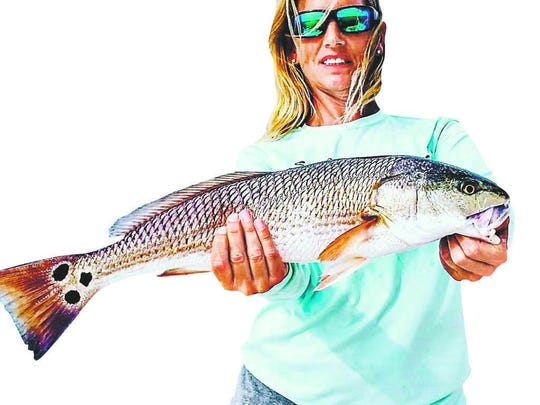 Tammy Everts and husband Jeff caught several high-slot redfish last Wednesday on their Get Hooked Charter with Capt. Matt DeAngelis.