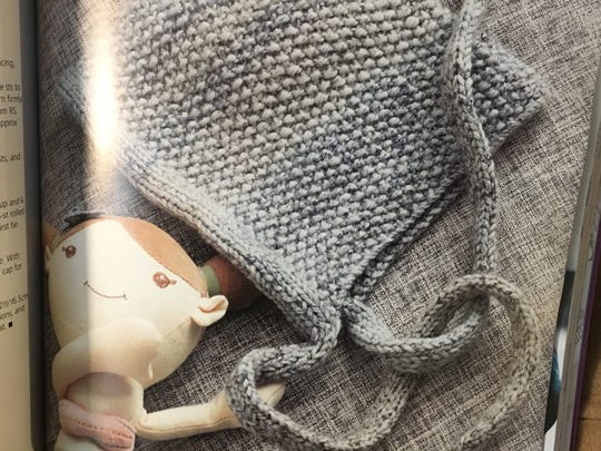 You can make this Seedling cap for babies in purple