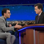 Zachary Quinto spent much of his 'Late Show' visit remembering 'Star Trek' co-star Anton Yelchin.
