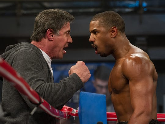 In 'Creed,' Rocky Balboa (Sylvester Stallone, left)