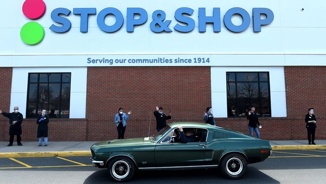 Stop & Shop employees of the South Windsor store are honored with a parade of appreciative customers and community members earlier this year.