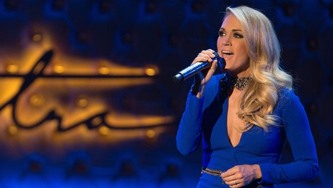 Carrie Underwood performs during the Sinatra 100 - An All-Star Grammy concert at The Wynn Las Vegas, Dec. 2, 2015.