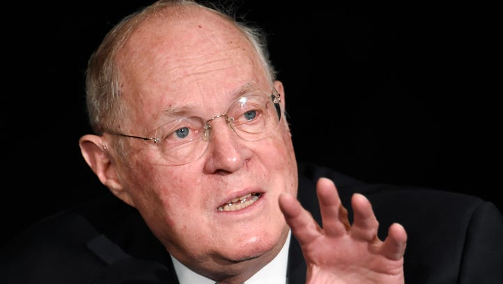 Supreme Court Justice Anthony Kennedy speaks at the