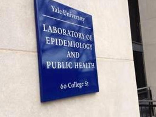 Researchers at Yale University received the biggest share of Lyme disease research grants since 1998. Pictured is the sign on the building housing the university's Lyme laboratory.