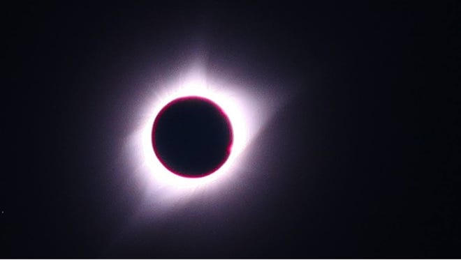The Aug. 21 total solar eclipse as seen at Guernsey State Park in Wyoming.