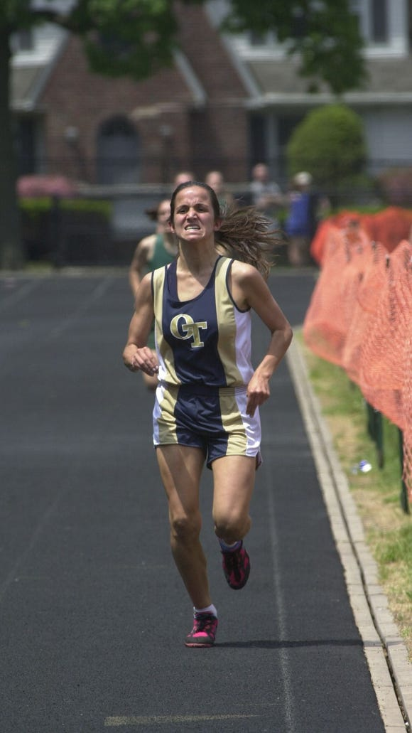 File photo, before embarking on her journalism career, Dianna Russini, was a standout runner at NV/Old Tappan.
