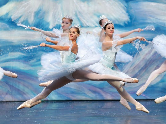 "The Moscow Ballet performs the ""Waltz of the Snowflakes"" during its ""Great Russian Nutcracker."""
