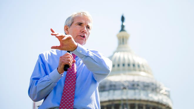 Do you have something to say to your congressmen? Tell The Enquirer. Shown, Sen. Rob Portman, R-Terrace Park, speaks on the west lawn of the Capitol Hill in Washington, D.C., last spring.