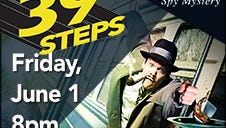 """""""The 39 Steps,"""" is a one-night performance with buffet at 6 p.m., June 1, at the Spencer Theater for the Performing Arts."""