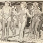 From 1969: The caption on this photo in the RGJ archives doesn't say exactly what the deal is here, but it was at the Harrah's hotel pool.