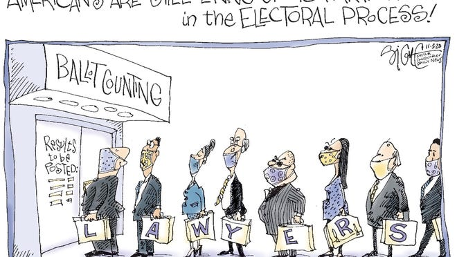 Signe cartoon\rTOON05\rLawyers at election